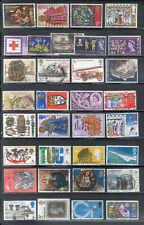 Great Britain 100 Stamps Commemorative Lot Used