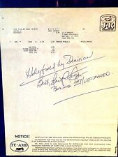 Bert Sugar autograph-Mike Tyson/Evander Holyfield prediction-Rare/One of a Kind