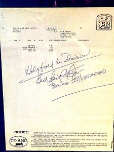 Bert Sugar autograph-Boxing Mike Tyson/Evander Holyfield prediction-Very Rare