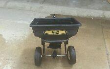 Tow behind riding lawn mower spreader. Brand Agri-Fab