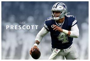 """Dallas Cowboys Quarterback Dak Prescott Huge 19""""x13"""" Action Photo"""