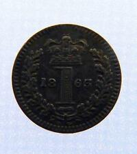 1863 Royal Mint Queen Victoria 1d One pence Coin