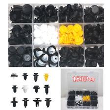 Universal Plastic Push Pin Rivet Fasteners Trim Moulding Clips For Car 150Pcs