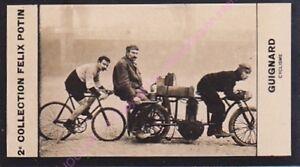 Chromo trade card Photo JOSEPH GUIGNARD Cyclisme FRANCE circa 1907