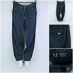 ARMANI JEANS Vintage Mens Blue Hemp Inside Bootcut Straight Jeans SIZE W40 L33