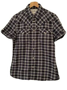 Levis Strauss & Co Size M S/S Shirt BNNT blue Check Studded fastening Pickets