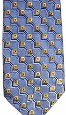 "Jos. A Bank Men's Silk Tie 60.5"" X 4"" Blue w/ multi-color Striped Geometric"