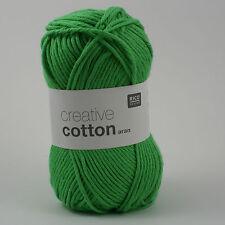 Rico Creative Cotton Aran - 100% Cotton Knitting & Crochet Yarn - Light Green 40