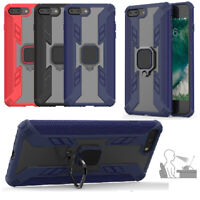 Magnetic Hybrid Armor Case Cover with Ring Stand For iPhone X XS Max XR 8 7 Plus