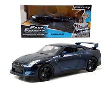 Jada Toys Fast & Furious 7 - 1:24 Brian'S 2009 Nissan Gt-R R35 Diecast Car Blue