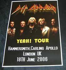 Def Leppard Concert Poster-Hammersmith,London UK 2006 A3 Size Repro