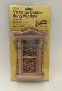 Houseworks Vintage Victorian Double Hung Window # 5042 Non-Working 1/12 Scale
