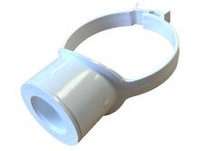 "White Pipe 110mm - 32mm 36mm Boss Clip Strap Boss 1 1/4"" Glued Solvent Adaptor"