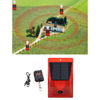Lampe d'alarme solaire sans fil étanche capteur de mouvement extérieur ferme