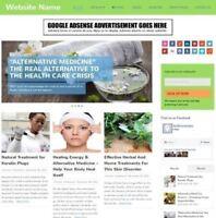 ALTERNATIVE MEDICINE - Online Business Website For Sale + Domain + Hosting