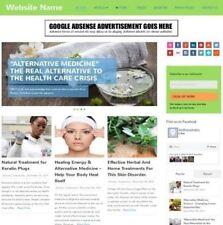Medicina alternativa-el sitio web de negocio en línea para venta + dominio + Hosting