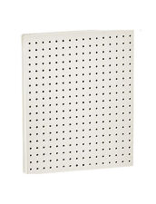 """Count of 2 New White Molded Plastic 16"""" Width x 20"""" High Pegboard Wall Panels"""