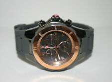 NWT MICHELE Womens WATCH Large Jelly Bean Grey Rose Gold MWW12F000064 $395