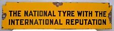 VINTAGE NATIONAL TIRE DISPLAY TYRE RACK PORCELAIN ENAMEL SIGN RARE COLLECTIBLE