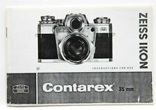 Very Clean Zeiss Ikon Contarex 35mm Instructions For Use #P4335