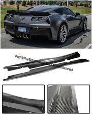 Z06 Z07 Style Carbon Fiber Side Skirts Panels For 14-Up Corvette C7 Z06 Only