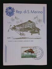 SAN MARINO MK 1962 FLUGZEUGE BONNET-LABRANCHE MAXIMUMKARTE MAXIMUM CARD MCc7617