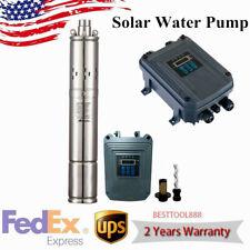 3 Deep Well Solar Water Pump Dc 72v 1000w Submersible Mppt Controller 525ft