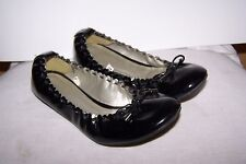 Girls Size 6 Slip On Flat / Dance Style Patent Leather Shoes By Merona