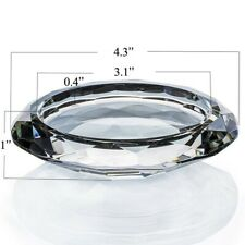 """Donoucls Crystal Candle Holder Candlestick Transparent 4.3"""" x 1"""" Home Decor"""