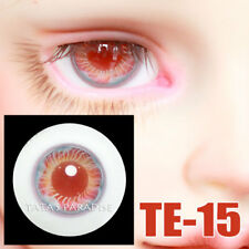 TATA glass eyes TE-15 14mm/16mm for BJD SD MSD 1/3 1/4 size doll use red