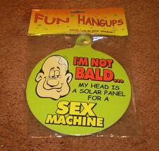 NEW I'M NOT BALD..MY HEAD IS A SOLAR PANEL FOR A SEX MACHINE CAR HANGUP