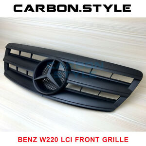 Mercedes Benz Facelifed W220 S-Class Matte Black Front Grille 2003-2006