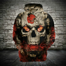 Cleveland Browns Football Hoodie Casual Sweatshirt Hooded Sport Jacket Fans Gift