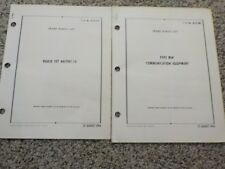 2 Technical Order Radio Set AN/PRC-14 Type MW Communication Equipment Air Force