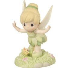 $ New PRECIOUS MOMENTS DISNEY Porcelain Figurine TINKERBELL Believe You Can Fly