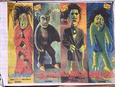Lindberg Monster Resin Set Of 4 Creeping Crusher Mad Mangler Green Ghoul Krimson