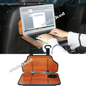 For Mazda Volvo Toyota Peach wood Rear Back Seat Table Tray Holders Stand Mount