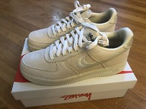 Nike Air Force 1 Stussy Fossil Men's US Size 11