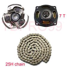 Clutch Pad 7T Drum Bell Housing Gear Box 49cc Mini Dirt Pocket Quad Bike 25H Cha