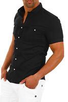 Carisma Herren Kurzarmhemd Freizeithemd Business Hemd Poloshirt Shirt Slim Fit %