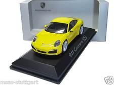 Porsche 911 carrera 4s racing amarillo Herpa 1:43 wap0201110g nueva de fábrica