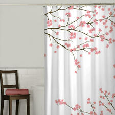 Cherry Blossom Polyester Fabric Shower Curtain