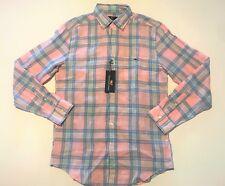 Vineyard Vines Flamingo Plaid Classic Fit Tucker Shirt - Men's Small S NWT