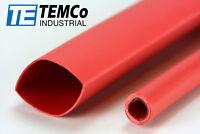 "2 Lot TEMCo 9/16"" Marine Heat Shrink Tube 3:1 Adhesive Glue Lined 4 ft RED"