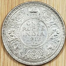1912 India-British 1 Rupee Silver Coin Uncirculated