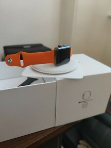 Apple Watch Edition 42mm(Series 3) Ceramic Grey Cellular with Hermes orange band