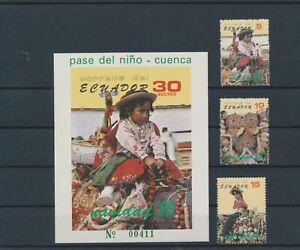 LN87476 Ecuador 1985 christmas traditional clothing fine lot MNH