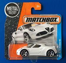 2016 Matchbox White 2014 ALFA ROMEO 4C LUXURY SPORTS CAR mint on short card!