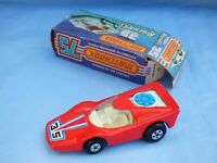 1975 Matchbox Rolamatics No 35 Fandango Red White Base Silver Fan Car Toy Boxed