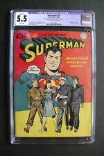 SUPERMAN #29, DC Comics, CGC Restored 5.5 grade, Prankster appearance